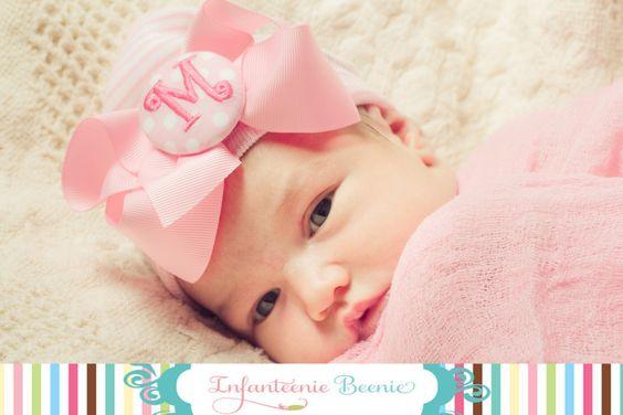 GIRL NEWBORN HAT baby girl hat newborn girl by InfanteenieBeenie, $24.99
