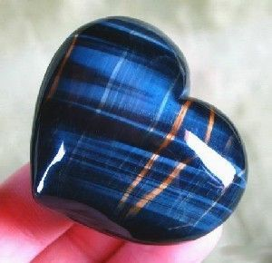 Blue Tigers Eye. A member of the quartz group,