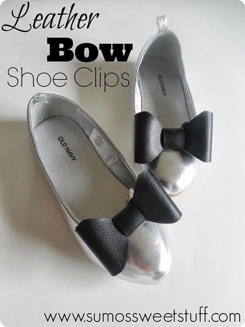 Leather Bow Shoe Clips at SumosSweetStuff.com #explorecricut @Cricut®