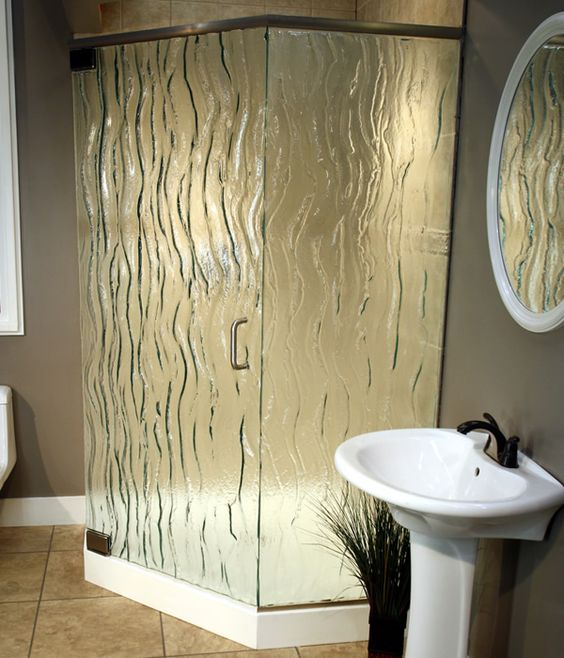 Frosted and Textured Glass Options for Shower Doors: