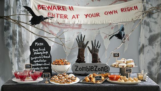 Pillsbury throws a Zombie-themed cocktail party with a menu for the undead, including deep-fried zombie dogs, eyeball bites and more.
