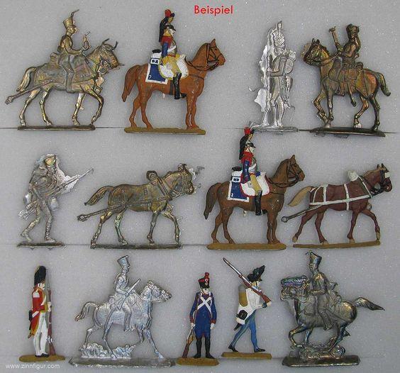 Berliner Zinnfiguren | Gießmetall: 2,5 kg Figuren und -Teile zum Einschmelzen | purchase online