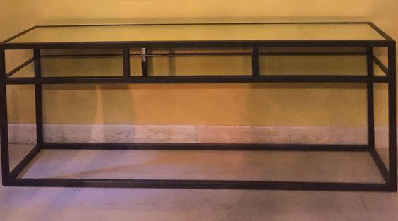 Diamara in ferro e specchio anticato