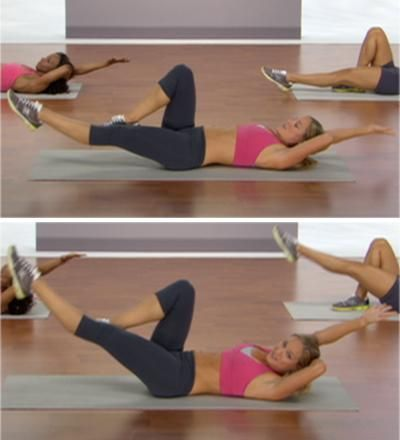 Great 11 move ab workout!  You can print out the workout with the pictures and descriptions to do on your own.