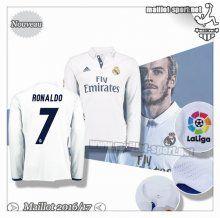Maillots-Sport: Créer Un Maillot Foot Real Madrid Manche Longue Ronaldo 7 Domicile 2016 2017