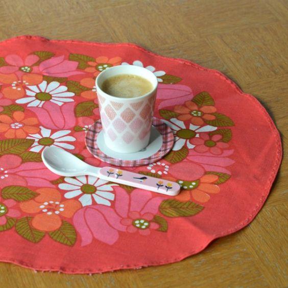 8 sets de table bouquet vintage - deco-graphic.com
