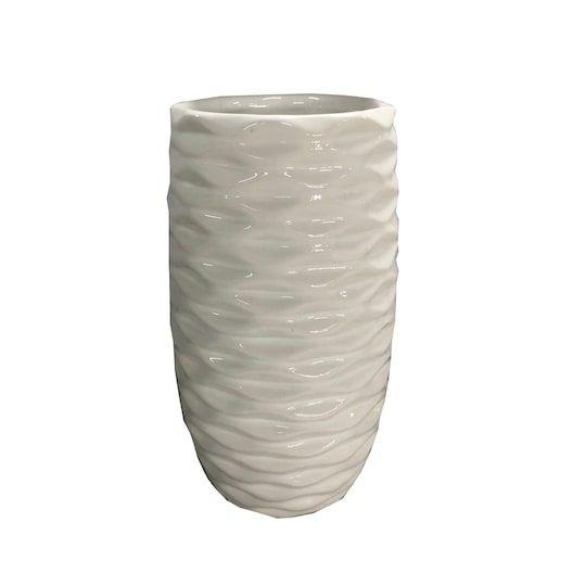 8 White Tall Ceramic Vase By Ashland Michaels Ceramic Vase