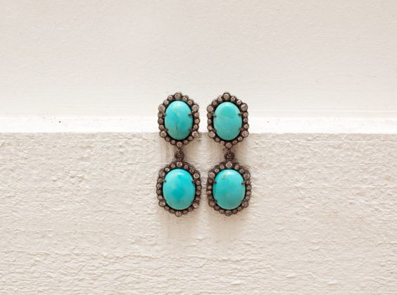 DIANI girl Natalie's lust item: The Woods Turquoise Double Drop Earrings