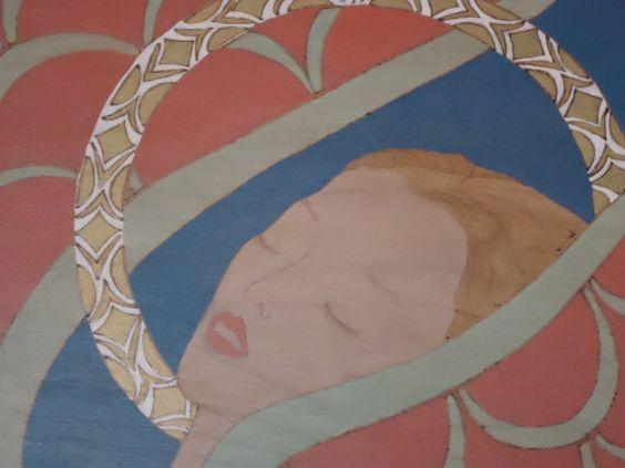 Beautiful Vintage Angel Painting on Wood by StoneSoupVintage, $125.00