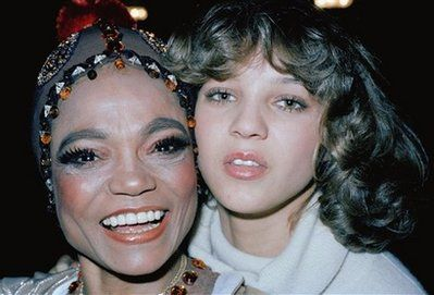 ** FILE ** This Dec. 13, 1977 file photo shows Eartha Kitt with her daughter Kitt McDonald. Kitt, a sultry singer, dancer and actress who rose from South Carolina cotton fields to become an international symbol of elegance and sensuality, died Thursday Dec. 25, 2008 of colon cancer. She was 81. (AP Photo/Carlos Rene Perez, File)