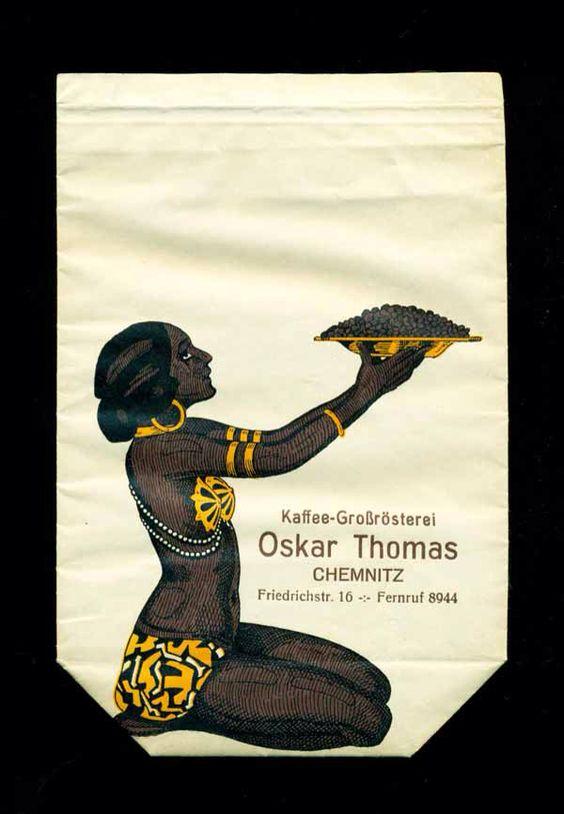"""Oskar Thomas """"Kaffee-Großrösterei"""", Chemnitz - Kaffeebeutel (2/2)"""