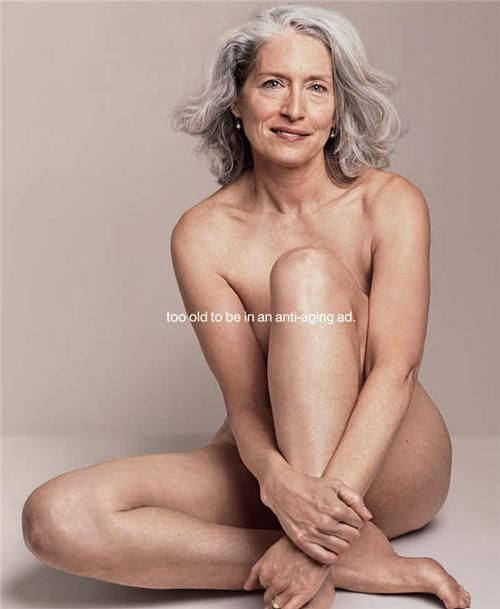 She absolutely doesn't need to be in an anti-aging ad...she's beautiful just as she is, in all her glory!! And so are we all...no matter the age, race, body shape, hair style, eye color...doesn't matter. All women are beautiful by virtue of being women!!