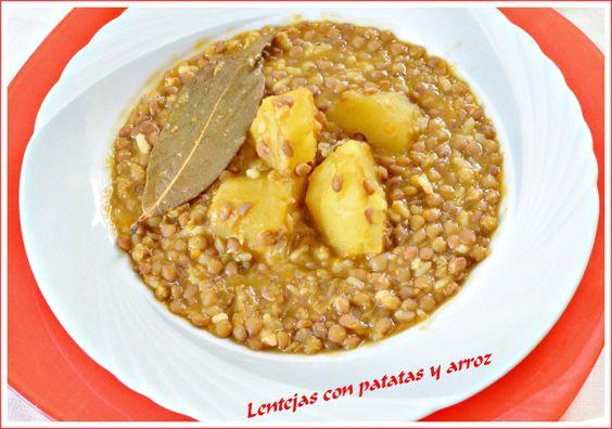 Lentejas con arroz y patata
