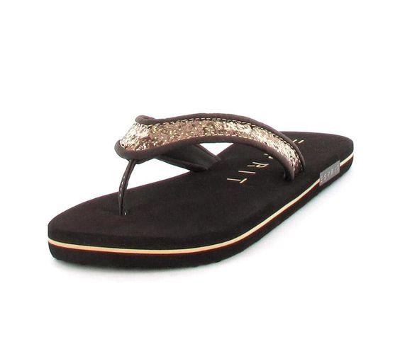 Slip Slop von Esprit in Braun mit Glitter. Passend zu jeder Gelegenheit. #Schuhe #Sommer