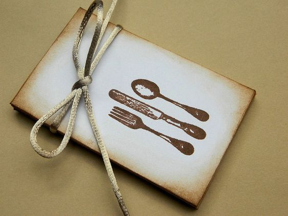 Coin Envelopes  Fork Knife Spoon Stamped  Set of 6   by sobresitos, $5.25