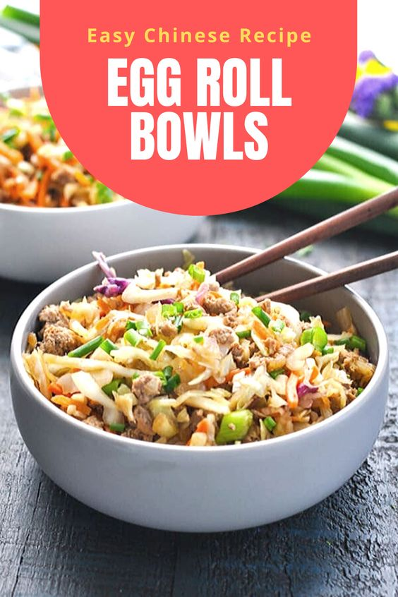 Easy Chinese Recipe | Egg Roll Bowls