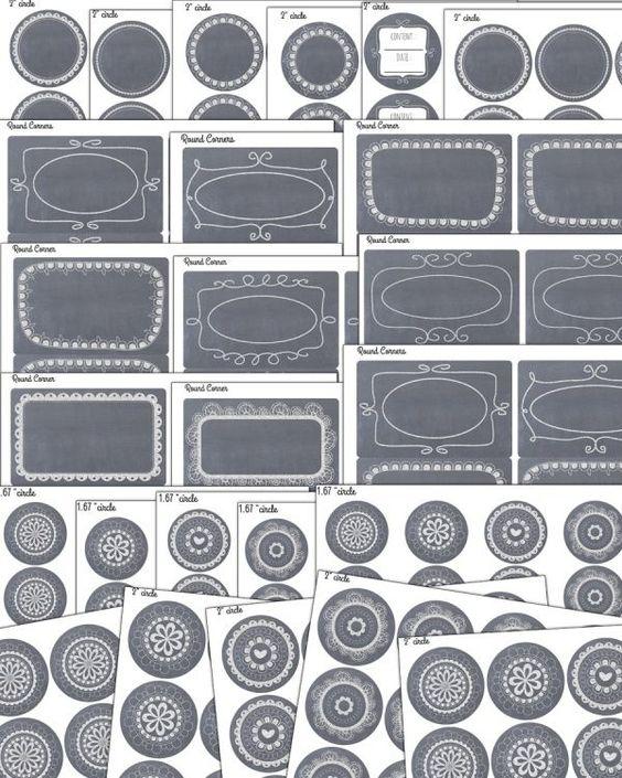 FREE Chalkboard Printable Labels | TodaysCreativeLife.com @Worldlabel