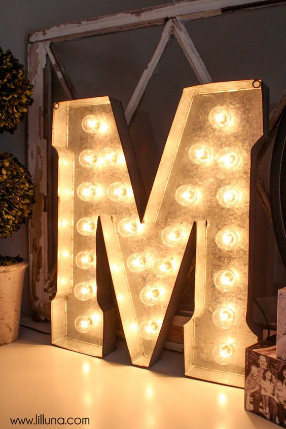 Marquee letters diy marquee letters and letters on pinterest for Metal marquee letters hobby lobby