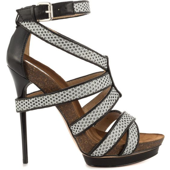 L.A.M.B. Women's Beatrice - Grey Black ($231) ❤ liked on Polyvore featuring  shoes,