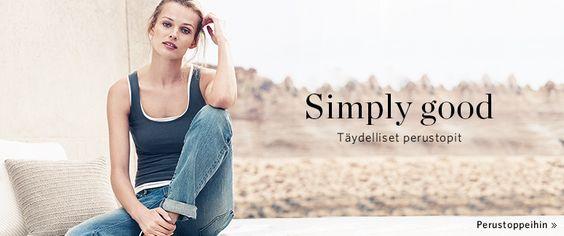 Esprit naisten t-paidat basics - netistä Online Shopista
