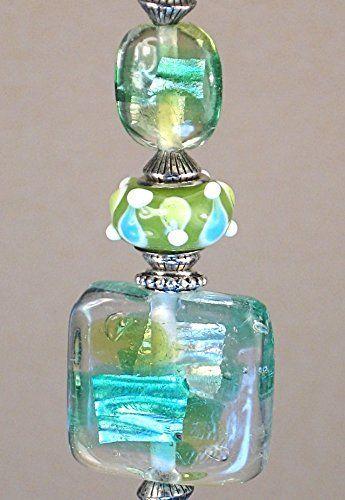 Light Green Blue Modern Art Glass Ceiling Fan Pull Chain