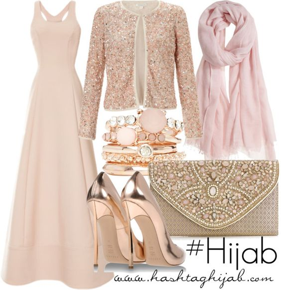 Dieses in Pastelltönen gehaltene Outfit sieht verspielt und klassisch-edel zugleich aus.