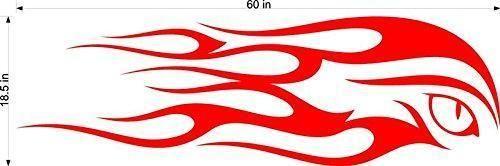 Flames 2  design  2 color boat decals