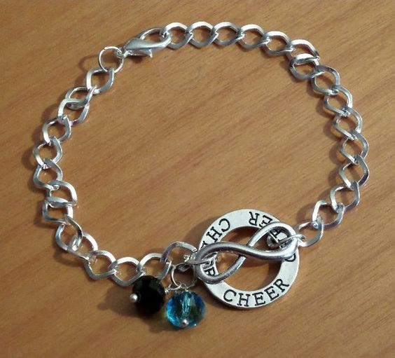 Hey, I found this really awesome Etsy listing at https://www.etsy.com/listing/224283696/infinity-cheer-bracelet-cheerleader