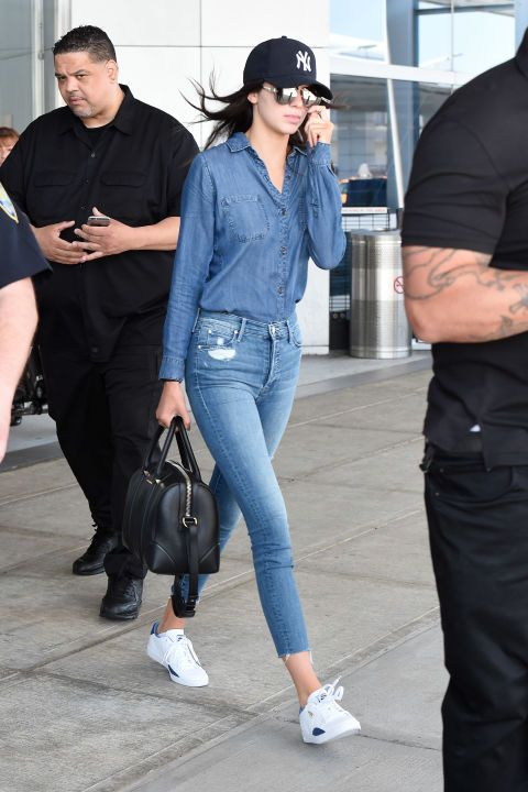 At JFK airport. See all of Kendall Jenner's best looks.: