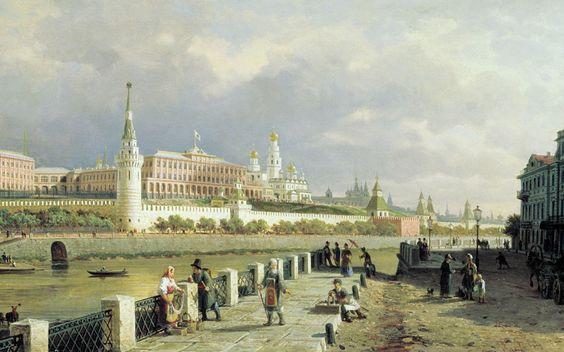 П. Верещагин. Вид Московского Кремля. 1879: