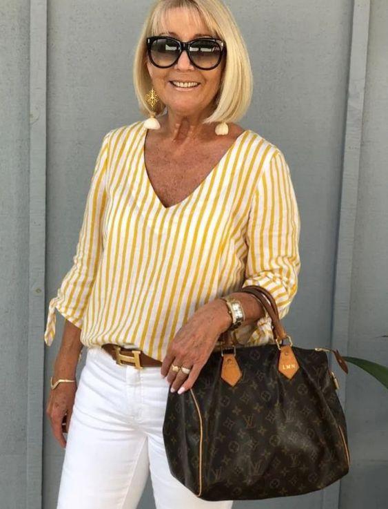 Как правильно одеваться полной женщине за 60: несколько вариантов стильной летней одежды 2020 | Женщины 60+ как цветы | Яндекс Дзен