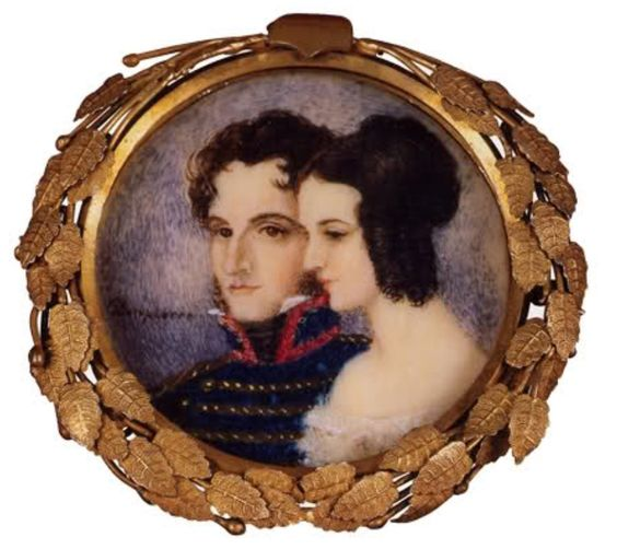 ¿Don Agustín de Iturbide y doña Ana María Huarte? | Al menos eso dicen algunos sitios web que muestran este retrato.