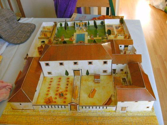 School Project Model Roman Villa