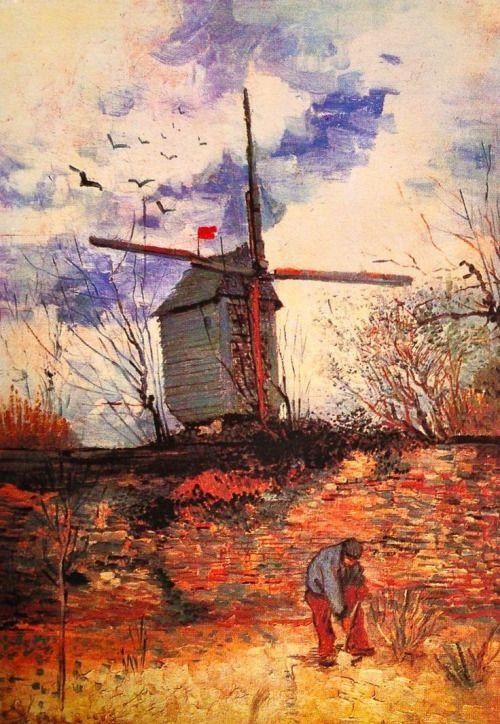 Vincent van Gogh - 'Le Moulin de la Galette' - Paris, Autumn 1886. Oil on canvas.: