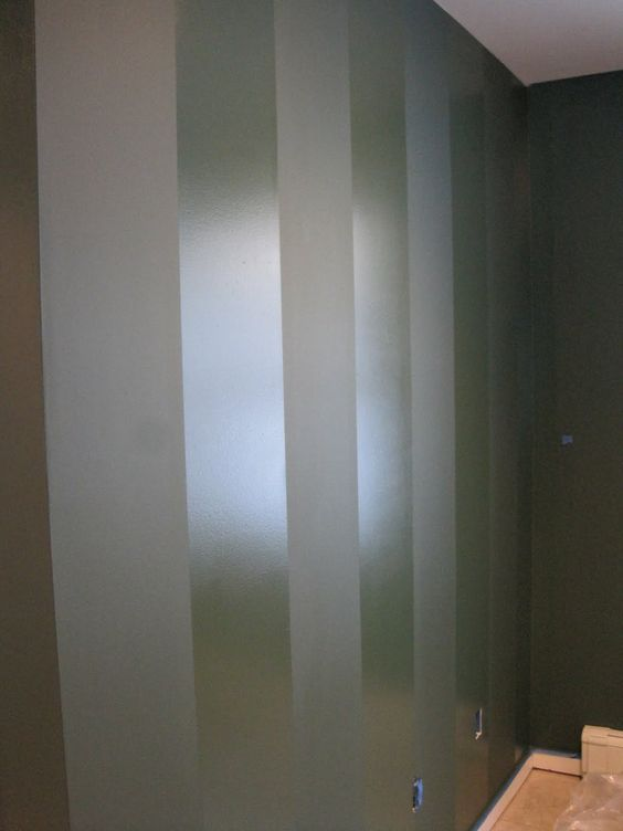 Flat glossy stripes could break up the space in the for Matte finish paint for walls