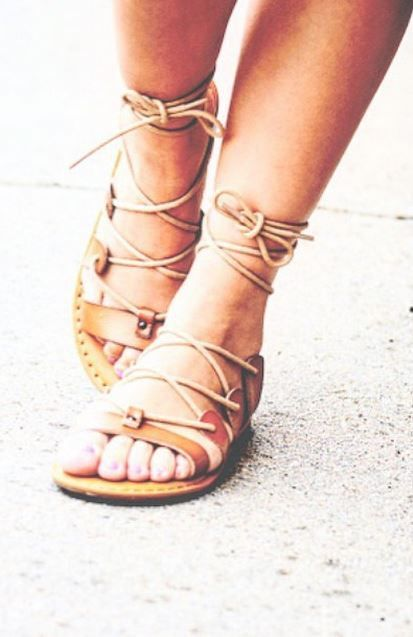 Aeo Ankle Tie Gladiator Sandal Shoes And Boots
