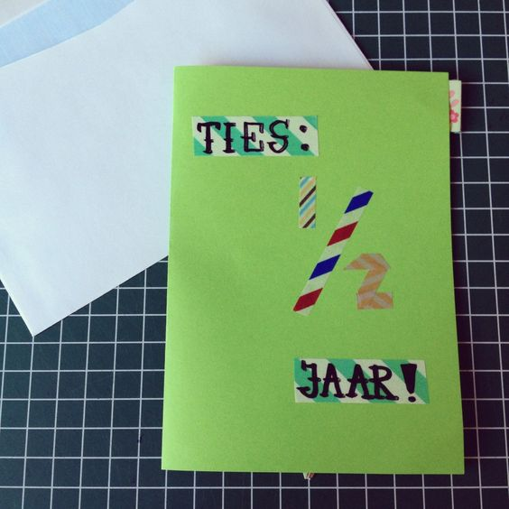 1/2 Birthday card / Kaart voor 'halve' verjaardag // VAN BRITT