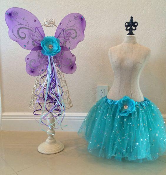Teal Tutu Purple Fairy Fairy Costume Tinkerbell by partiesandfun, $21.00