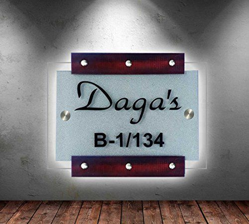 Buy Name Plate For Home Decor Handmade Nameplates With Customized Style And Free Shipping Name Plate Design Name Plates For Home Door Name Plates