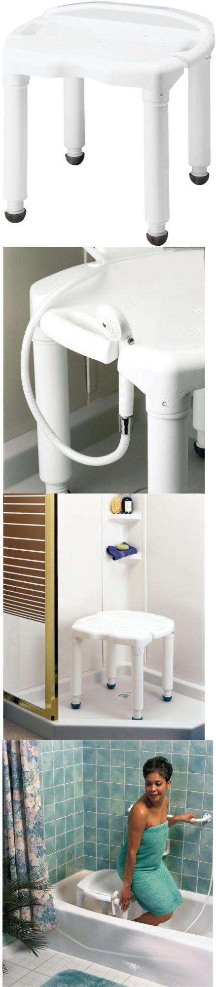 Shower and Bath Seats  Bathroom Chair Shower Bath Tub Bench Seat Adjustable Height Freestanding White. Shower and Bath Seats  Bathroom Chair Shower Bath Tub Bench Seat