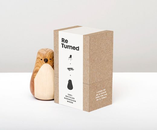The Re-turned wooden birds are made of recycled wood