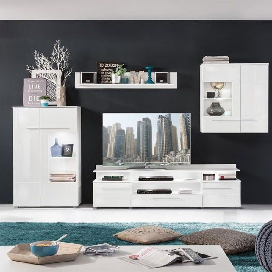 Callum Living Room Set 3 In White With Gloss Fronts And Led Living Room Sets Furniture Living Room Sets Room