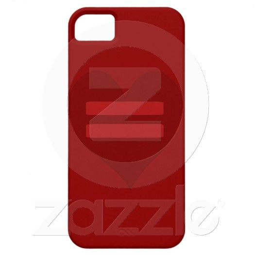 Red Equality Heart casemate cases