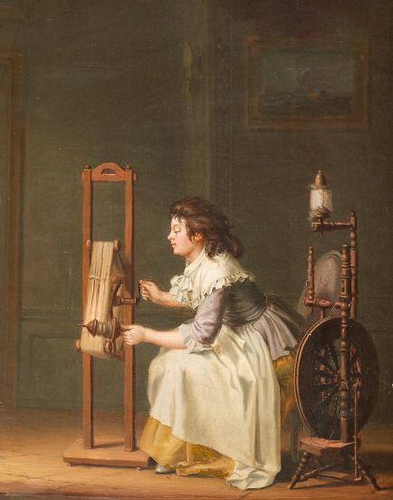 Pehr Hillström  A Woman Spinning  18th century: