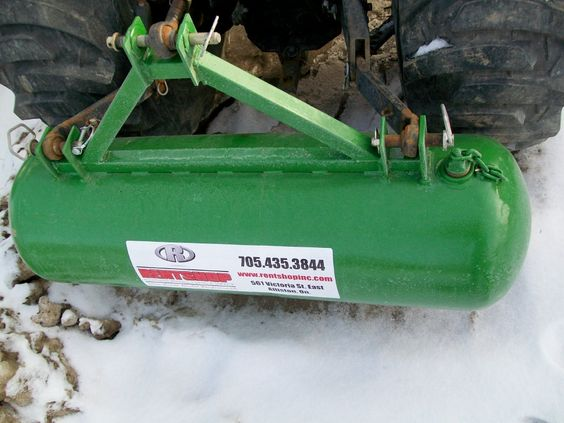 Diy Tractor Accessories : Rear ballast tank painted tractor pinterest snow