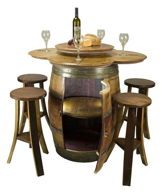 Wine Cellar Furniture And Wine Barrels On Pinterest