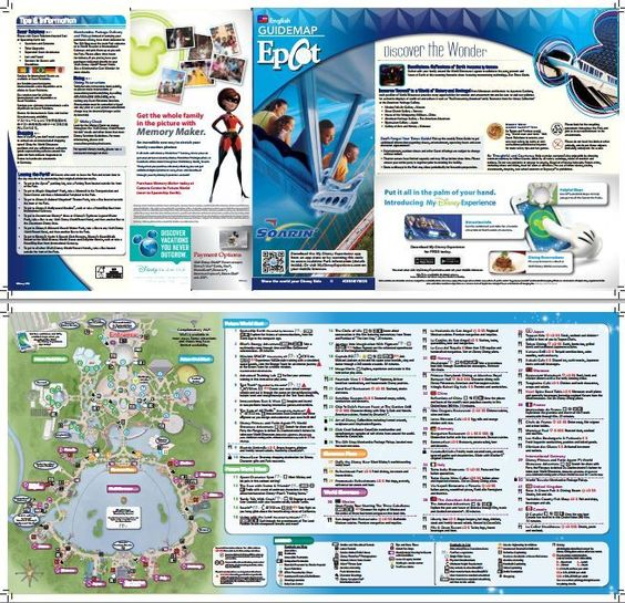 Epcot park map - print/view before you go (PDF)
