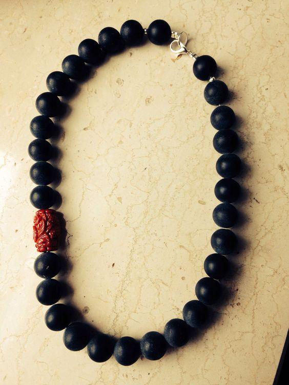 Necklace: matt agate + red coral. balmes.roxana@gmail.com