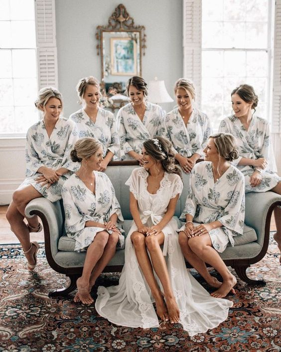 bridesmaids and bridal photos