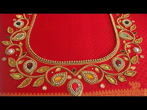 Aari Work In Normal Needle Stitch Youtube Handwork Embroidery Design Embroidery Neck Designs Hand Embroidery Designs,Traditional Japanese House Design Pictures